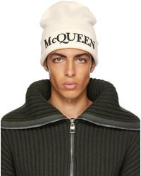 Alexander McQueen Off White Logo Beanie