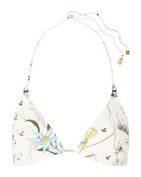 Tory Burch Gemini Link Printed Triangle Bikini Top