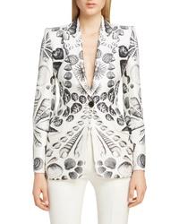 Alexander McQueen Shell Print Blazer
