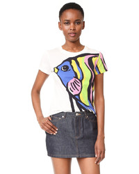 Moschino Boutique Short Sleeve Printed Top