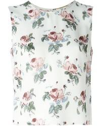 Saint Laurent Rose Print Top