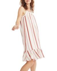 Madewell Stripe Trapeze Tank Dress