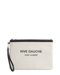 Saint Laurent Rive Gauche Canvas Pouch