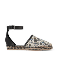 Isabel Marant Carlyce Printed Canvas And Leather Espadrilles