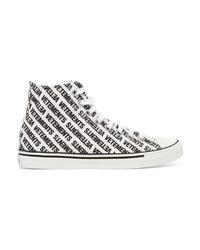 Vetements Canvas High Top Sneakers
