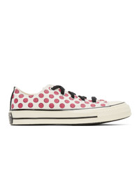 Converse Off White And Pink Happy Camper Chuck 70 Ox Sneakers