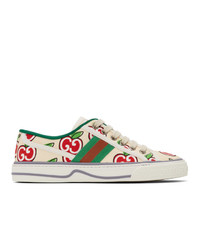 Gucci Off White Gg Apple Tennis 1977 Sneakers