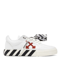 Off-White White And Orange Vulcanized Low Sneakers