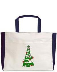 Artsmith Beach Tote Peace Christmas Tree With Ornats
