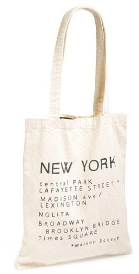 e147a916e Maison Scotch Cotton Canvas Shopper, $25 | Nordstrom | Lookastic.com