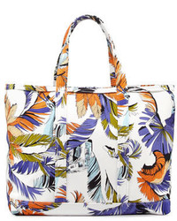 Emilio Pucci Jungle Print Canvas Tote Bag Print