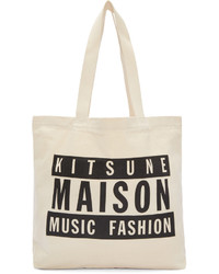 Maison kitsun ssense off white maison 18 tote medium 1029370