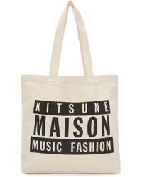 MAISON KITSUNE Maison Kitsun Ssense Off White Maison 18 Tote