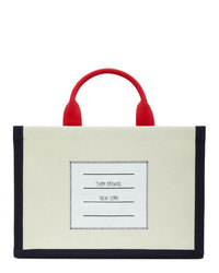 Thom Browne Off White Squared Tote