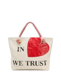 Moschino Printed Tote Bag