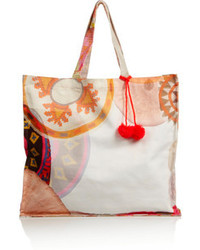 Sophie Anderson Spiro Large Printed Cotton Canvas Tote