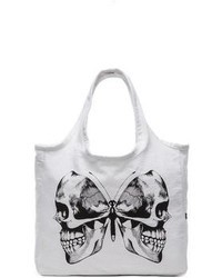 Lauren Moshi Taylor Skull Butterfly Canvas Tote