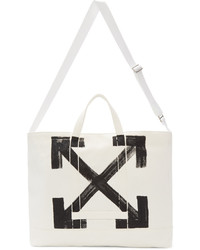 White brushed arrows tote medium 5081617