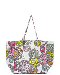 Versace White Medusa Amplified Tote