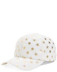 Amici Accessories Foil Star Ball Cap Black
