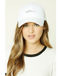 Forever 21 Embroidered Shark Cap