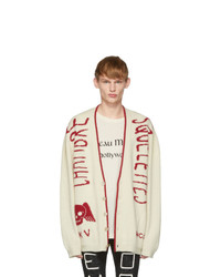 Gucci Off White Knit Skull Cardigan