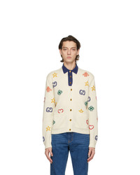 Gucci Off White Symbols Cardigan