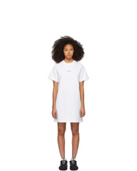 Acne Studios White Reverse Logo T Shirt Dress