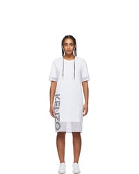 Kenzo White Sport Logo T Shirt Dress