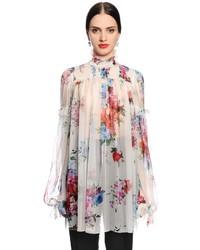 Dolce & Gabbana Roses Printed Chiffon Blouse