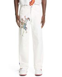 Off-White Pascal Print Cotton Twill Pants