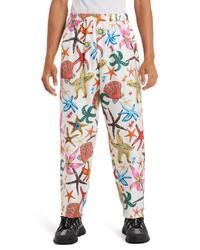 Versace Tresor De La Mer Silk Pants