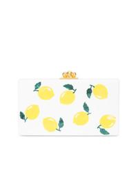 Edie Parker Lemon Print Box Clutch