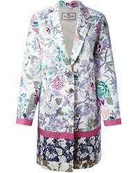 Etro floral print coat medium 305834