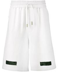 Off-White White Diagonal Stripe Long Shorts