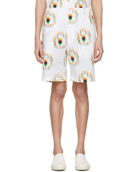 Stella McCartney White Psychedelic Flower Shorts