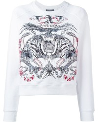 Alexander McQueen Tiger And Skull Embroidered Sweatshirt