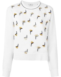 Fendi Beaded Appliqu Sweatshirt