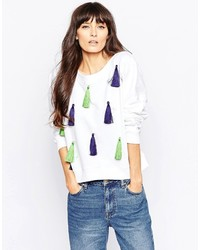 House of Holland Boat Neck Sweatshirt