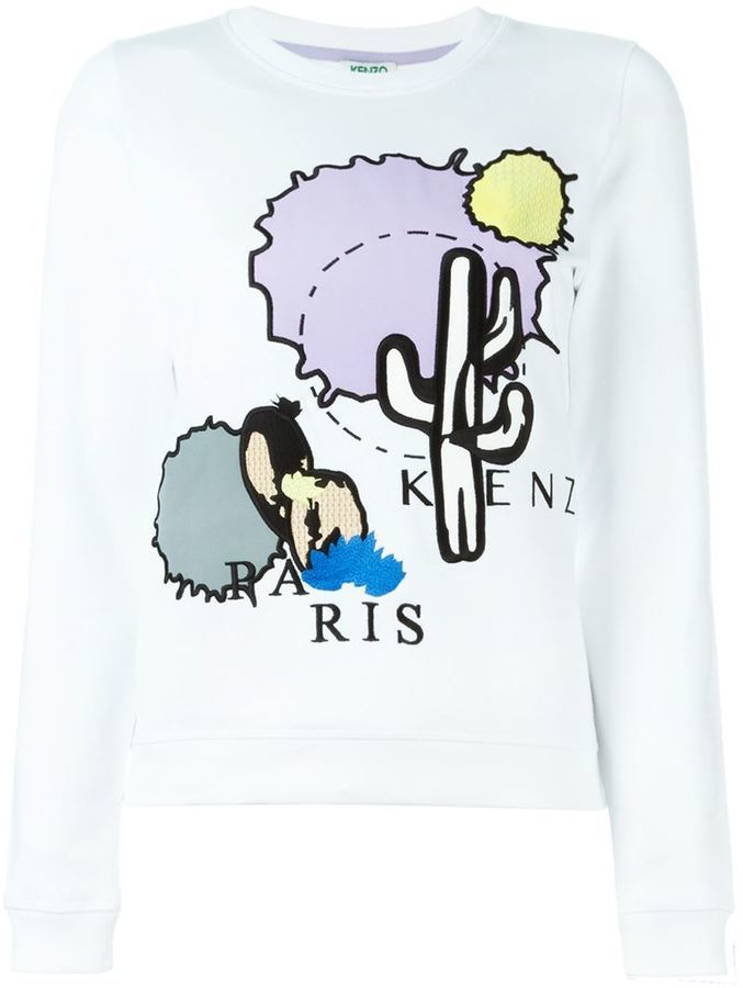 Kenzo Cactus Embroidered Sweatshirt