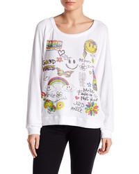 Lauren Moshi Good Vibes Printed Pullover