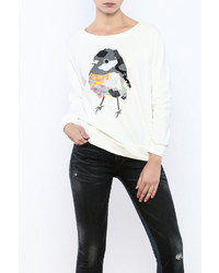 Le Lis Sequin Bird Sweatshirt