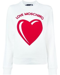 Love Moschino Heart Logo Print Sweatshirt