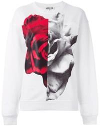 McQ by Alexander McQueen Mcq Alexander Mcqueen Split Rose Collage Print Sweatshirt