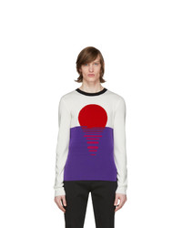 PACO RABANNE Off White And Purple Sunset Sweater