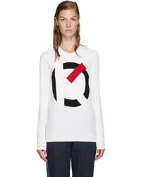 Kenzo Off White Intarsia Logo Sweater