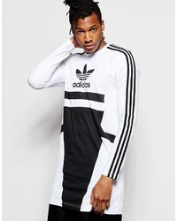 adidas Originals Bleached Out Printed Long Line Long Sleeve T Shirt B45875