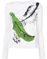 Sonia Rykiel Palm Leaf Intarsia Sweater