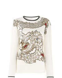 P.A.R.O.S.H. Sequined Dragon Sweater
