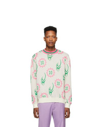 Landlord White Frazier Tattoo Sweater